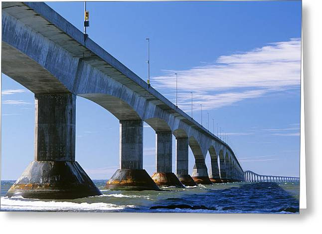 Pillar Box Greeting Cards - Confederation Bridge, Canada Greeting Card by David Nunuk
