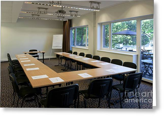 """""""meeting Room"""" Greeting Cards - Conference Room in Hotel Greeting Card by Jaak Nilson"""