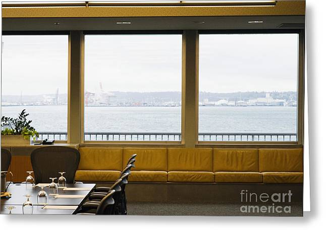 """""""meeting Room"""" Greeting Cards - Conference Room with View Greeting Card by Andersen Ross"""