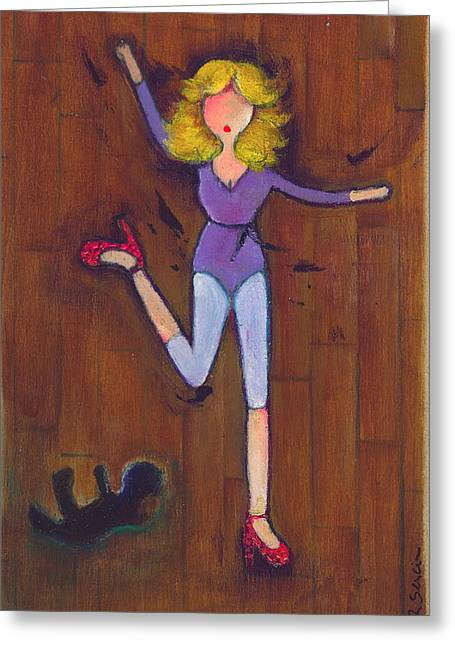 Dance Floor Paintings Greeting Cards - Confessions of a Child Dropped on the Dance Floor Greeting Card by Ricky Sencion