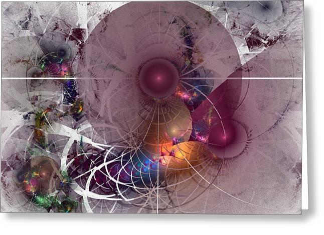 Confetti Greeting Cards - Confetti - Fractal Art Greeting Card by NirvanaBlues