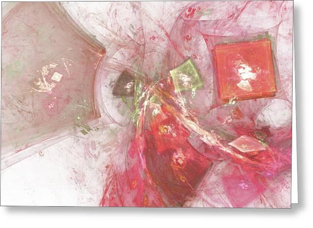 Geometric Digital Art Greeting Cards - Confetti Greeting Card by Bonnie Bruno