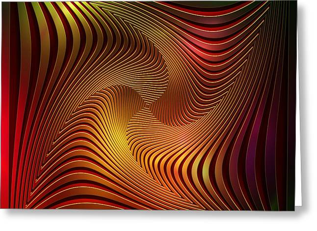Opt Greeting Cards - Confusion Greeting Card by Christine Kuehnel