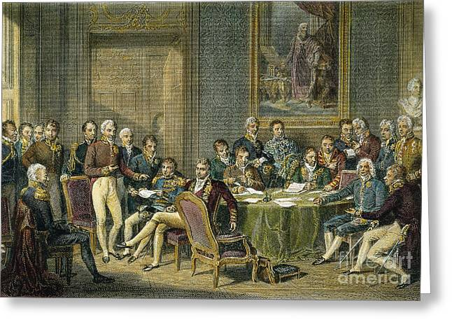 Andrey Greeting Cards - Congress Of Vienna, 1815 Greeting Card by Granger