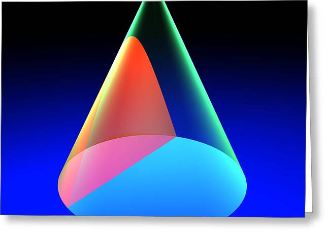 Russell Kightley Digital Greeting Cards - Conic Section Hyperbola 6 Greeting Card by Russell Kightley