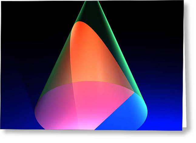 Russell Kightley Digital Greeting Cards - Conic Section Parabola 6 Greeting Card by Russell Kightley