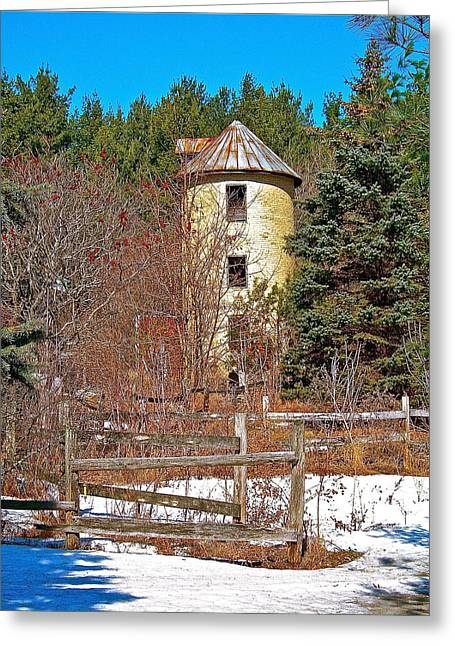 Outbuildings Greeting Cards - Conical Configuration Greeting Card by Randy Rosenberger