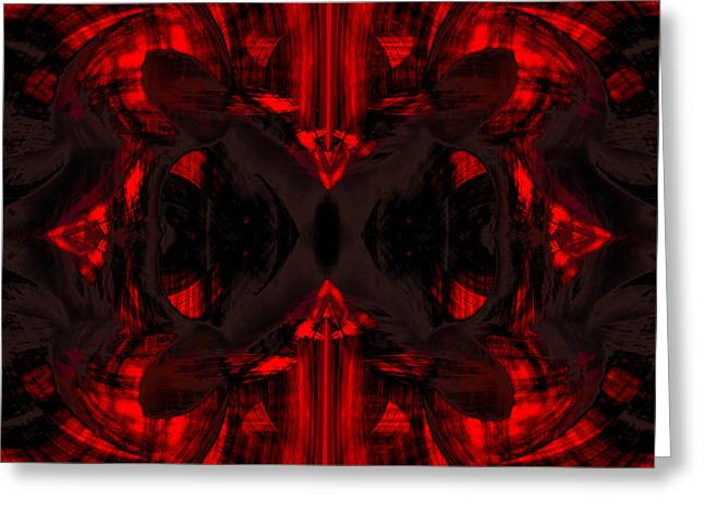 Flow Greeting Cards - Conjoint - Crimson Greeting Card by Christopher Gaston