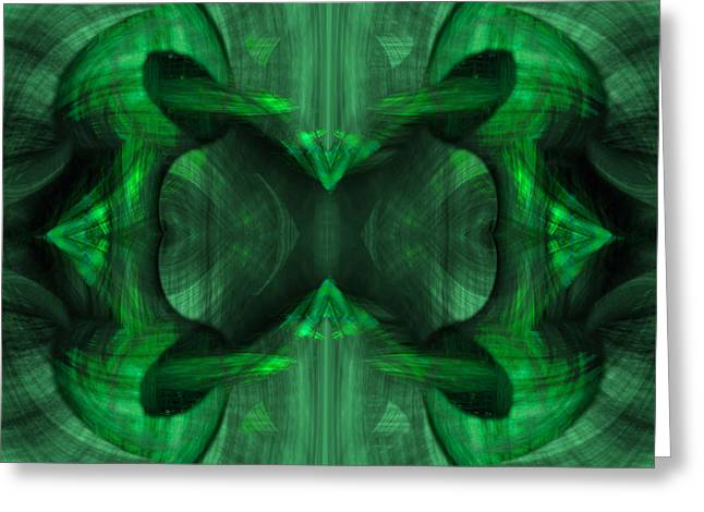 Rhythm Greeting Cards - Conjoint - Emerald Greeting Card by Christopher Gaston