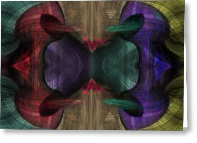 Conjoint - Multicolor Greeting Card by Christopher Gaston