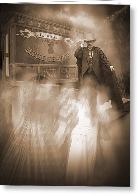 The Shadow Of Death Greeting Cards - Conjurer of Spirits Greeting Card by Liezel Rubin