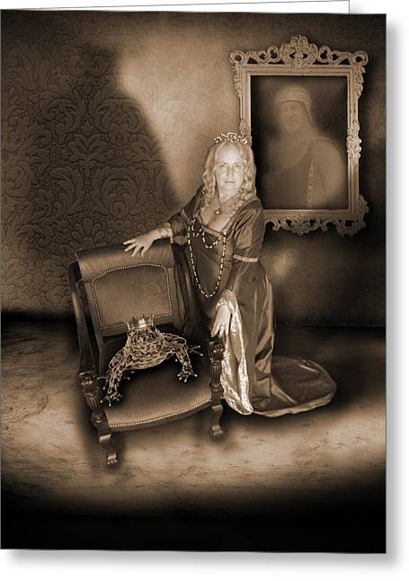 The Shadow Of Death Greeting Cards - Conjuring the Dead Greeting Card by Liezel Rubin