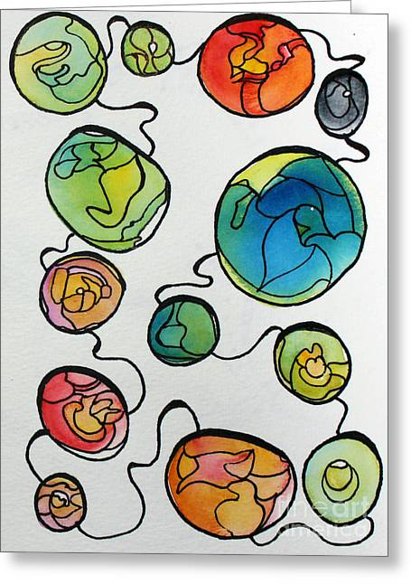 Sketchbook Greeting Cards - Connected Greeting Card by Carolyn Weir