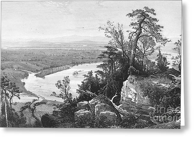 1874 Greeting Cards - Connecticut River, 1874 Greeting Card by Granger