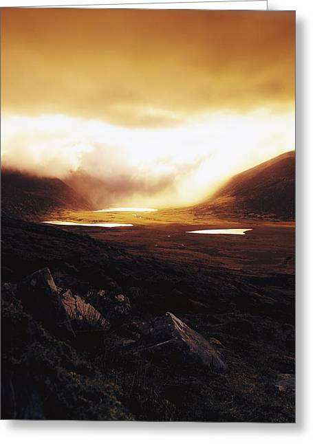 Billowing Greeting Cards - Conor Pass, Dingle Peninsula, Co Kerry Greeting Card by The Irish Image Collection