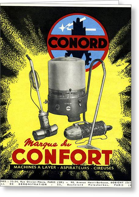 Promotional Greeting Cards - Conord Domestic Appliances Advert, 1949 Greeting Card by Cci Archives