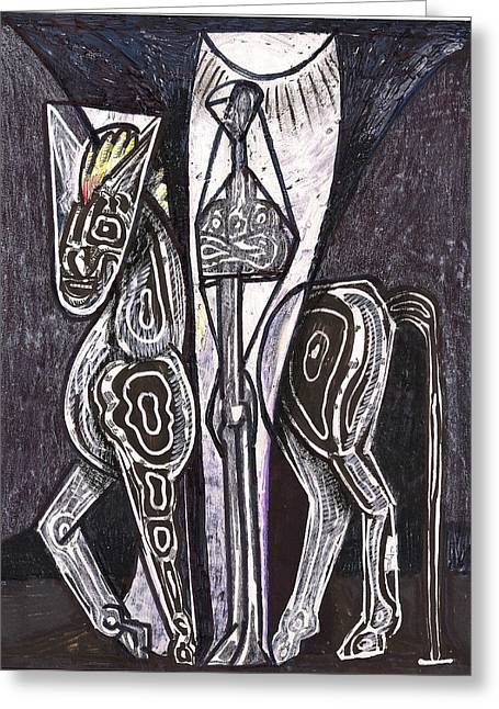 Energize Drawings Greeting Cards - Conquistador Greeting Card by Al Goldfarb