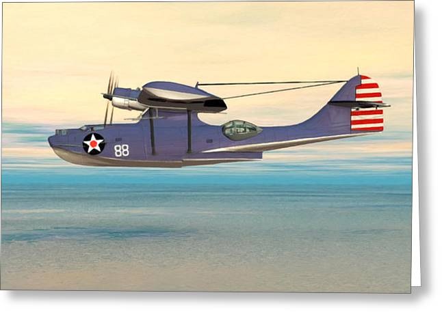 Consolidated Pby Catalina Greeting Card by Walter Colvin
