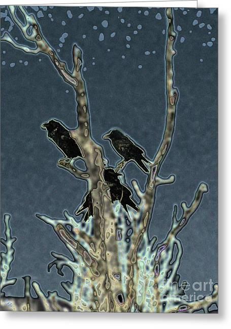 Constable Digital Art Greeting Cards - Constable of Ravens Greeting Card by Ron Bissett