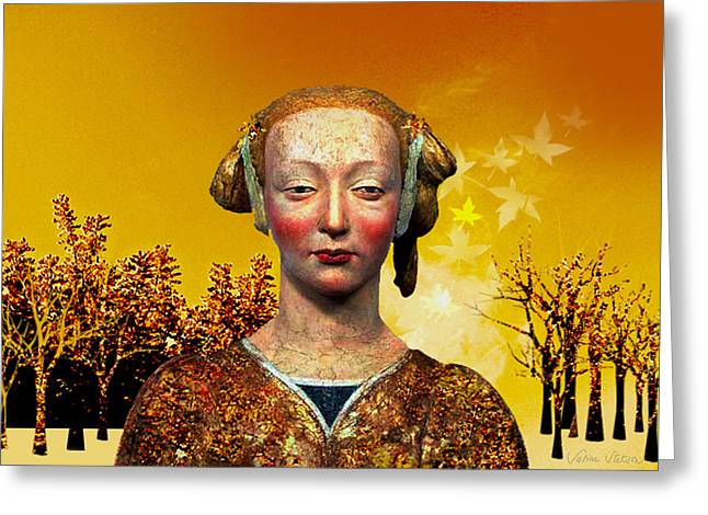 Sabine Stetson Greeting Cards - Constance  Greeting Card by Sabine Stetson