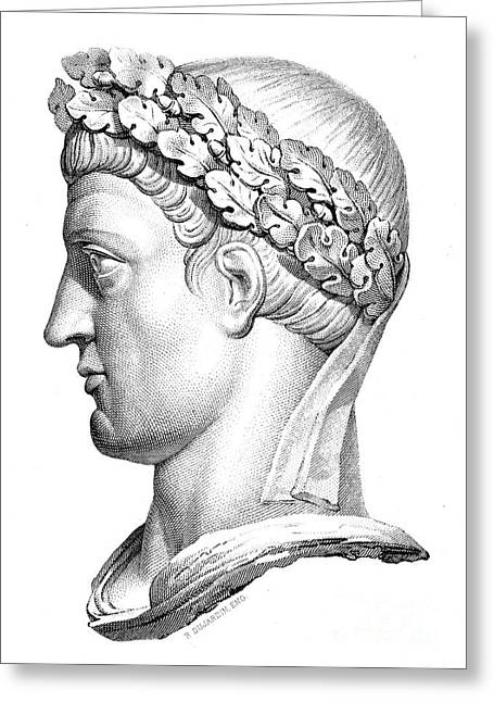 Statue Portrait Greeting Cards - CONSTANTINE I (d. 337) Greeting Card by Granger