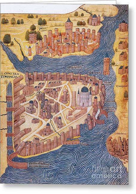1485 Greeting Cards - Constantinople, 1485 Greeting Card by Photo Researchers