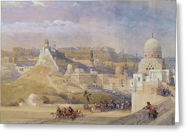 Watercolour Paintings Greeting Cards - Constantinople Greeting Card by David Roberts