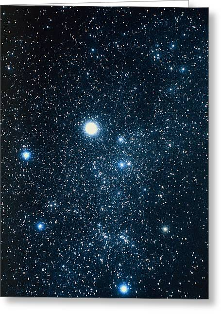 Constellation Auriga With Halo Effect Greeting Card by John Sanford