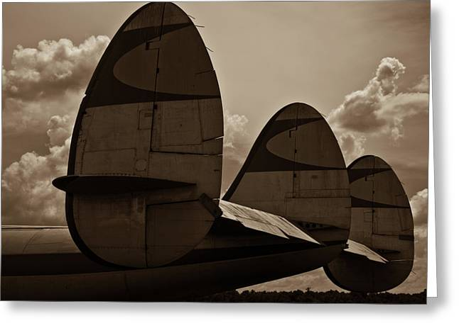 Lockheed Aircraft Greeting Cards - Constellation Tail Greeting Card by Patrick  Flynn