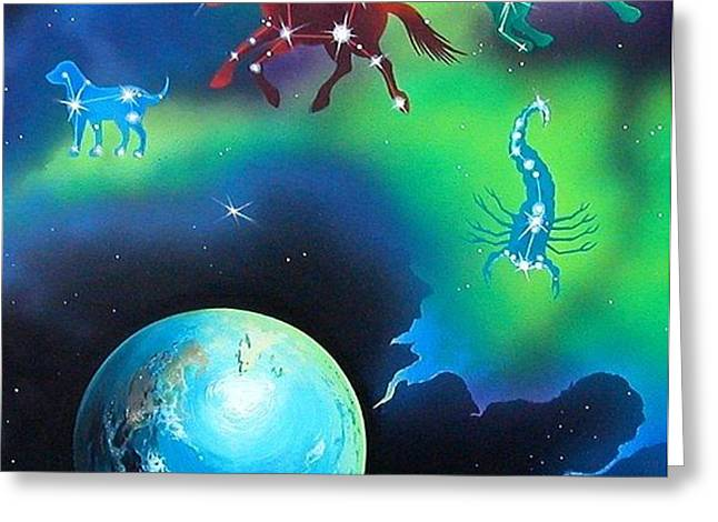 Constellations Greeting Card by Kimberlee  Ketterman Edgar