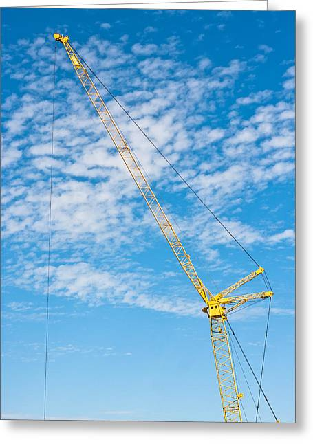 Development Greeting Cards - Construction crane Greeting Card by Tom Gowanlock