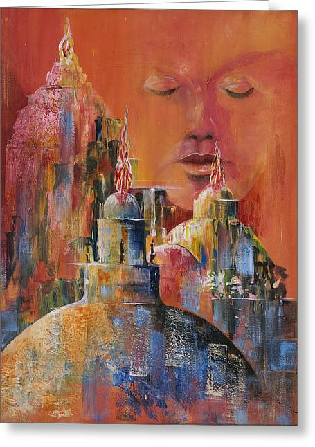 Observer Digital Greeting Cards - Contemplatio Greeting Card by Tony Macelli