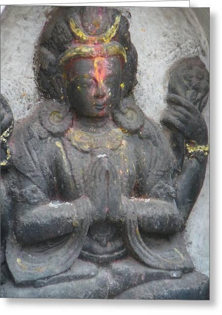 Hindu Goddess Photographs Greeting Cards - Contemplation Greeting Card by Dagmar Ceki