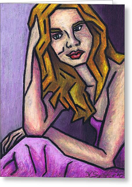 Pondering Pastels Greeting Cards - Contemplation Greeting Card by Kamil Swiatek