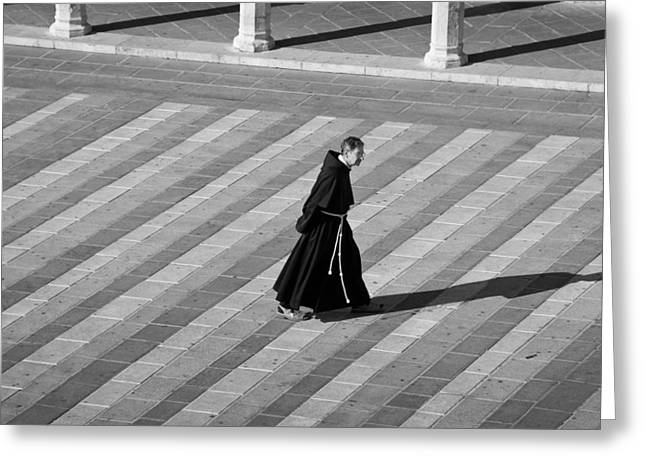 San Francesco Greeting Cards - Contemplation Greeting Card by Michael Avory