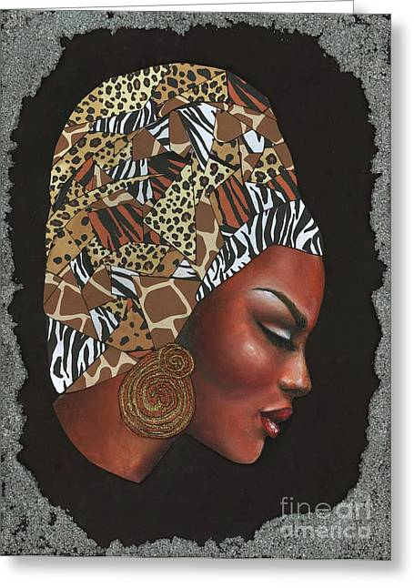 African-american Pastels Greeting Cards - Contemplation Too Greeting Card by Alga Washington