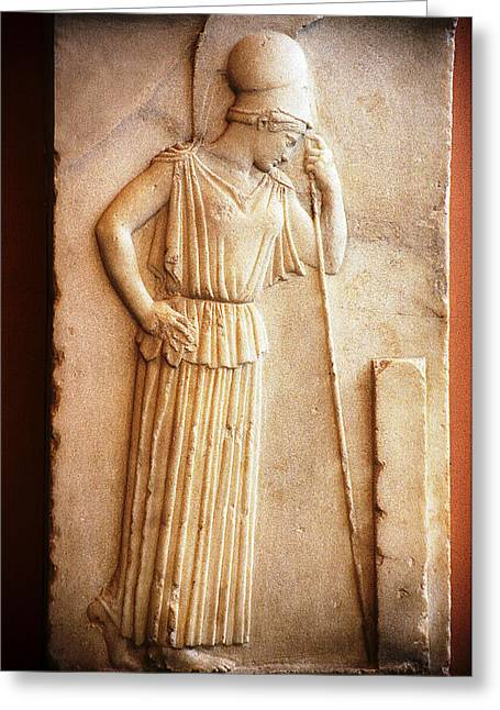 Greek Sculpture Greeting Cards - Contemplative Athena Greeting Card by Andonis Katanos
