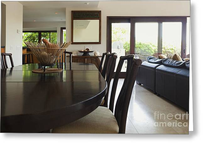 Centerpiece Greeting Cards - Contemporary Dining Room Greeting Card by Inti St. Clair