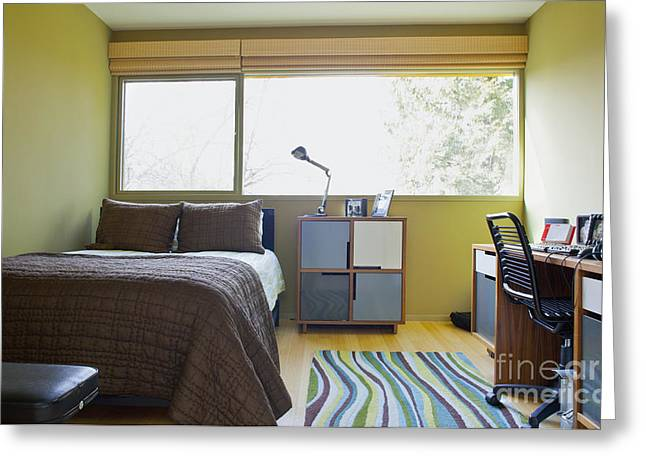 Office Chair Greeting Cards - Contemporary Teenage Bedroom Greeting Card by Inti St. Clair