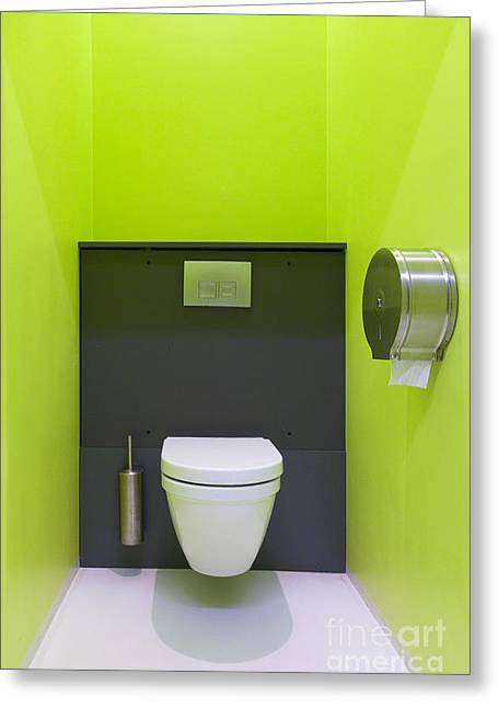 Toilet Bowl Greeting Cards - Contemporary Toilet Greeting Card by Jaak Nilson