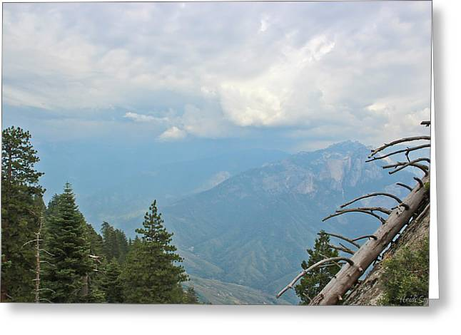 Sequoia National Park Greeting Cards - Continental Divide Greeting Card by Heidi Smith