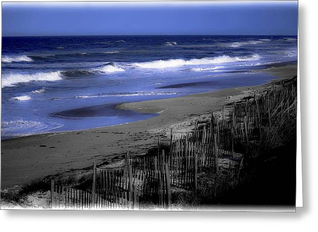 Sand Fences Photographs Greeting Cards - Continue With This Dream Greeting Card by DigiArt Diaries by Vicky B Fuller