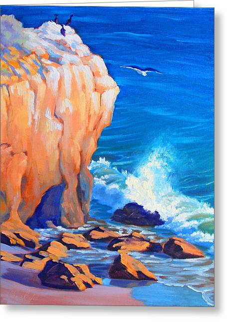 California Beach Greeting Cards - Continuous Sculpting study Greeting Card by Elena Roche