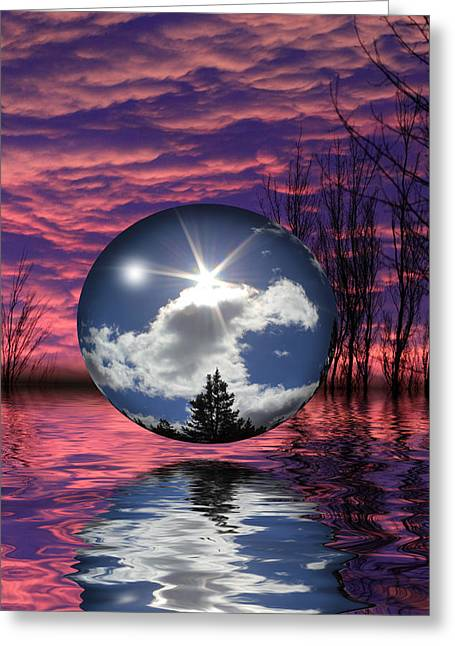 Spheres Mixed Media Greeting Cards - Contrasting Skies Greeting Card by Shane Bechler