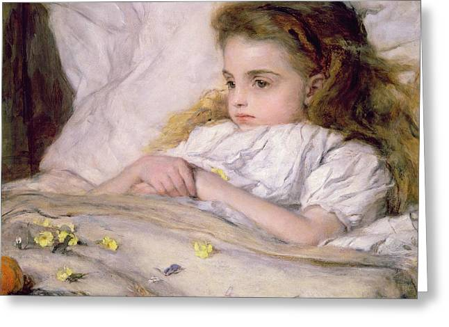 Convalescent Greeting Card by Frank Holl