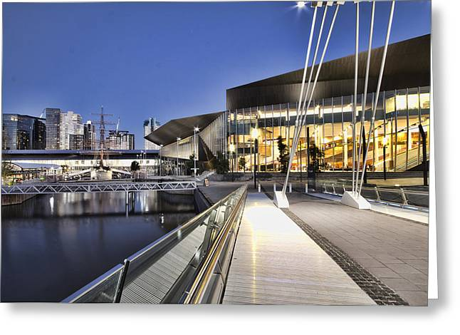 Convention Greeting Cards - Convention Center Melbourne Australia Greeting Card by Douglas Barnard