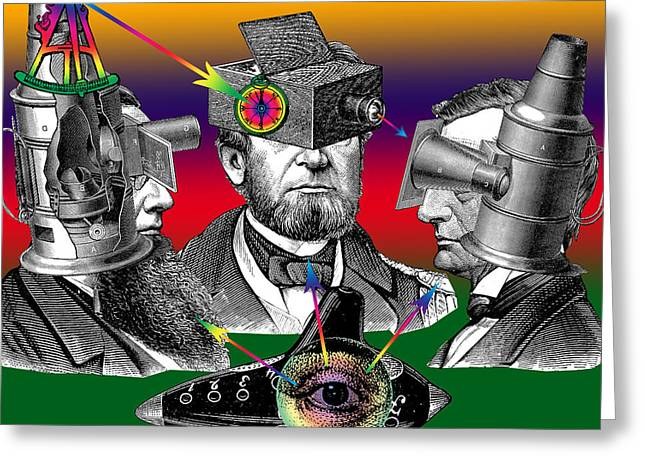 Conversations Mixed Media Greeting Cards - Conversation of Sight Greeting Card by Eric Edelman