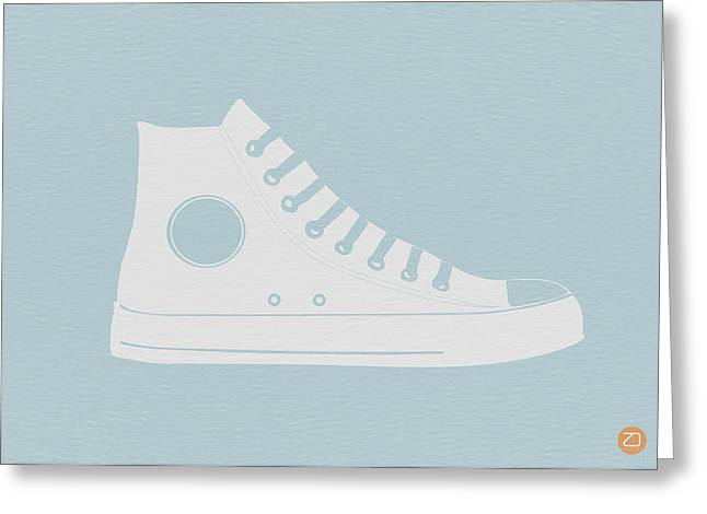 Running Shoe Greeting Cards - Converse Shoe Greeting Card by Naxart Studio