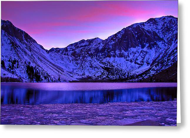 Convicts Greeting Cards - Convict Lake Winter Sunset Greeting Card by Scott McGuire