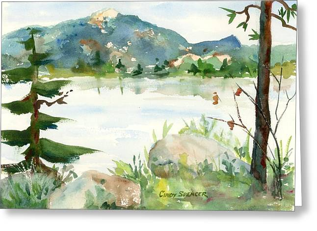 Mt Chocorua Greeting Cards - Conway Lake Greeting Card by Cindy Spencer